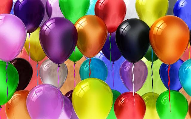 Feestelijke Achtergrond Met Ballonnen Voor Verjaardag Of Ander Feest